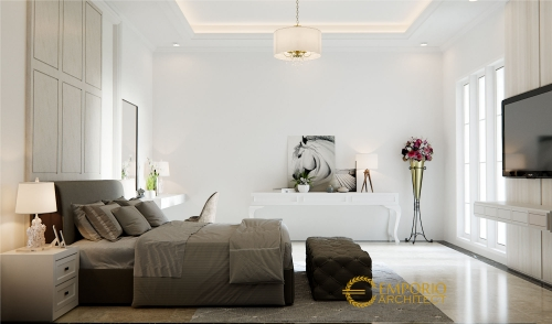 Desain Interior Desain Rumah Classic 2 Lantai Ibu Rahma