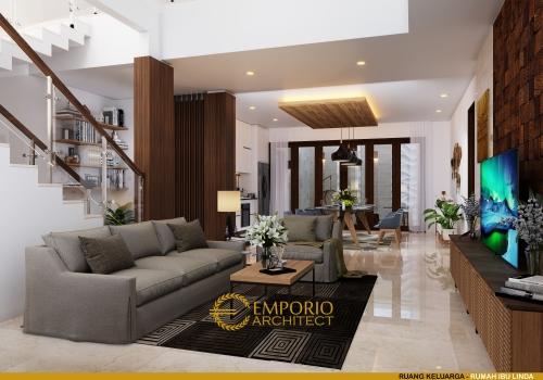 Desain Interior Desain Rumah Modern 2.5 Lantai Ibu Linda