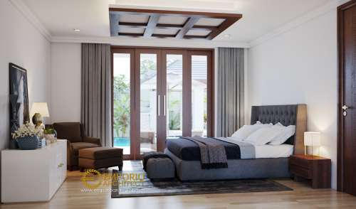 Interior Design Mr. Irwan Villa Bali House 2 Floors Design - Banjarmasin