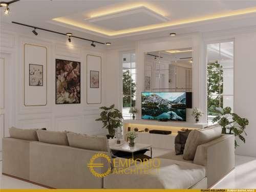 Desain Interior Desain Rumah Hook Classic 2.5 Lantai Bapak Anas