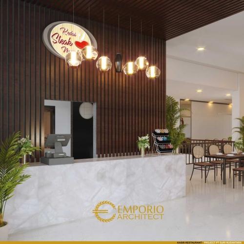 Desain Interior Toko Daging dan Kedai Steak Modern 2 Lantai Suri Nusantara