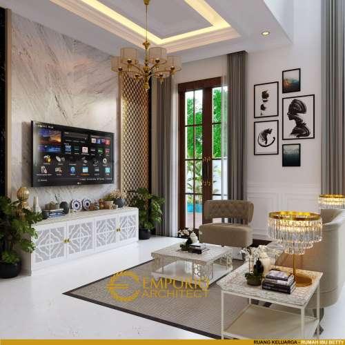 Interior Design Mrs. Betty Classic House 2 Floors Design - Bengkulu