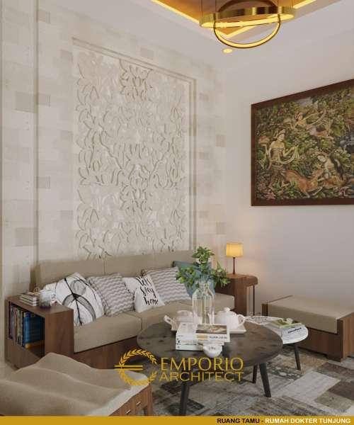 Interior Design dr. Tunjung Villa Bali House 1 Floor Design - Bengkulu