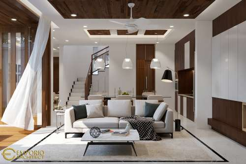 Interior Design Mrs. Febby Modern House 3 Floors Design - Bogor, Jawa Barat