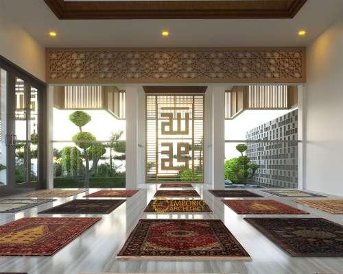 Interior Design Green Bamboo Terace Modern Mushola 1 Floor Design - Bogor, Jawa Barat