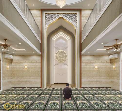 Interior Design Mr. Nasrul Classic Mosque 2 Floors Design - Cikarang, Bekasi