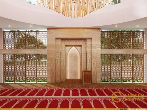 Interior Design Jamie Al Minah Modern Mosque 1 Floor Design - Cikarang, Bekasi, Jawa Barat