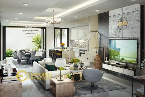 Desain Interior Desain Rumah Modern 4 Lantai Bapak Bima