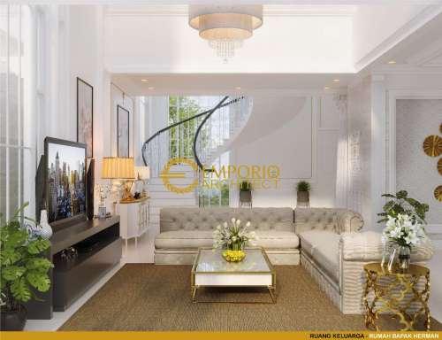 Desain Interior Desain Rumah Classic 3 Lantai Bapak Herman