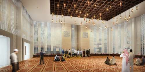 Interior Design Lippo Village Modern Mosque 3 Floors Design - Karawaci, Tangerang