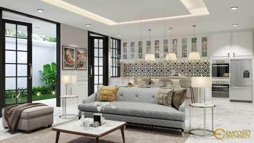 Interior Design Mr. Indra Mediteran House 3 Floors Design - Jakarta Barat