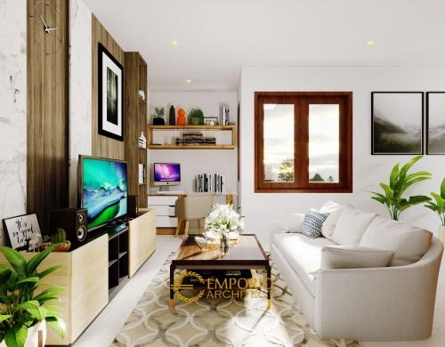 Interior Design Arya Green Pamulang Villa Bali Residence width 7 m by Abipraya Properti 2 Floors Design - Jakarta