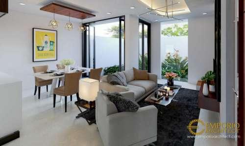 Interior Design Arya Green Simatupang Modern Residence 2 Floors Design - Jakarta