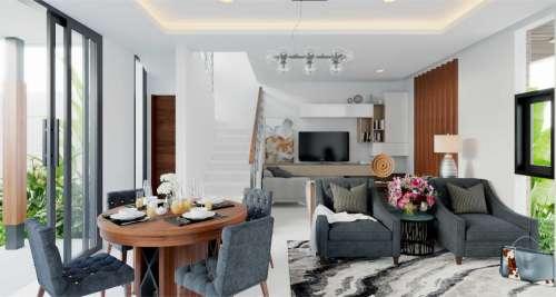 Interior Design Arya Green Simatupang Modern Residence 2 Floors Design Type B - Jakarta