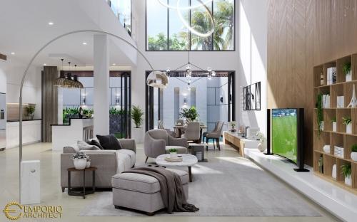 Desain Interior Desain Rumah Modern 3 Lantai Bapak Andy