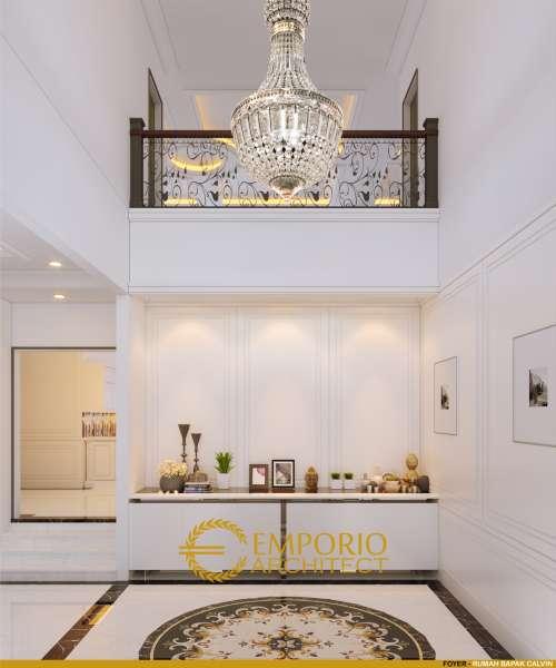 Desain Interior Desain Rumah Classic 3 Lantai Bapak Calvin