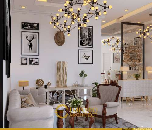 Interior Design Mr. Haidar Mediteran House 3 Floors Design - Jakarta