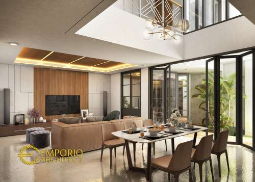 Desain Interior Desain Rumah Modern 2 Lantai Bapak Sadeko