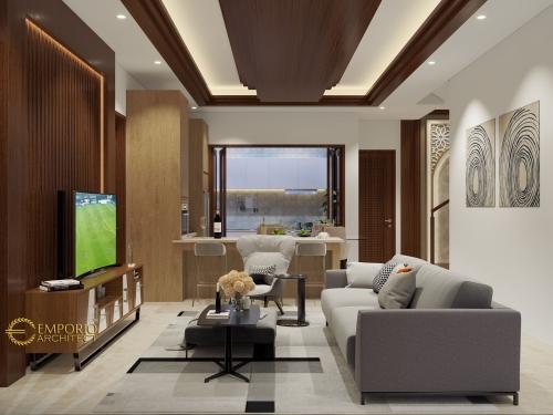 Desain Interior Desain Rumah Classic 3 Lantai Bapak Adi