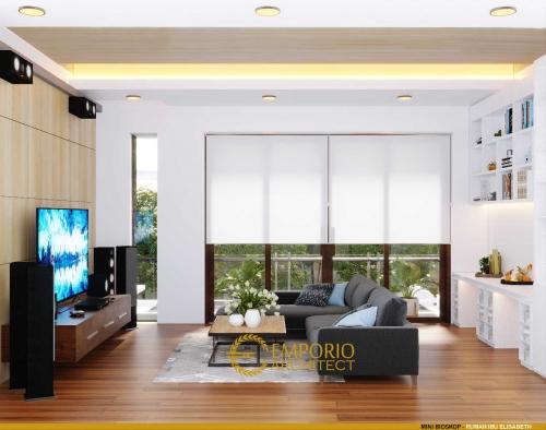 Interior Design Mrs. Elisabeth Modern House 2.5 Floors Design - Jakarta