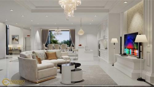 Interior Design Mrs. Widyana Mediteran House 3 Floors Design - Jakarta