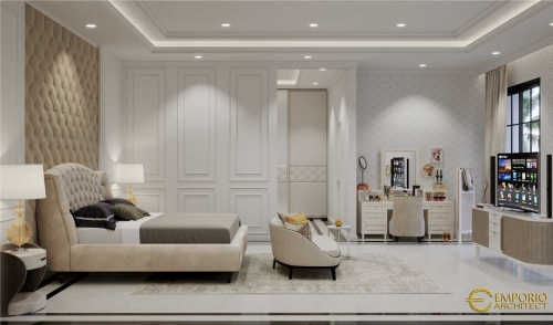 Desain Interior Desain Rumah Mediteran 3 Lantai Ibu Widyana