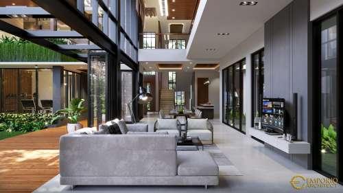 Desain Interior Desain Rumah Modern 2 Lantai Mrs. J