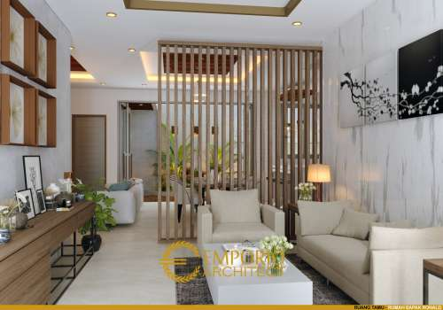Interior Design Mr. Ronald Villa Bali House 1.5 Floors Design - Jakarta