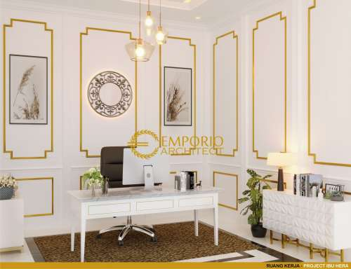 Desain Interior Desain Rumah Hook Classic 2 Lantai Ibu Hera