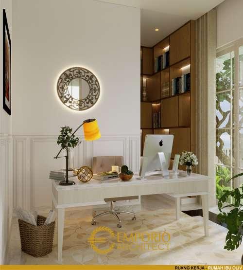 Interior Design Mrs. Olive Mediteran House 3.5 Floors Design - Jakarta Selatan