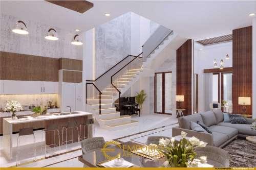 Interior Design Mr. Toni Tchin Modern House 4 Floors Design - Jakarta Utara