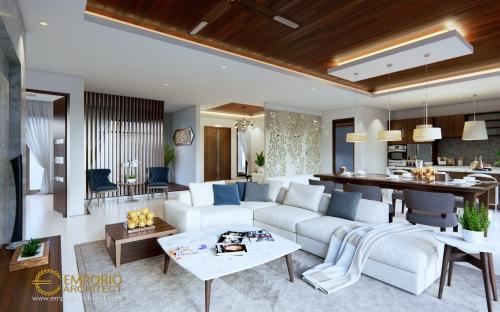 Desain Interior Desain Rumah Villa Bali 1 Lantai Bapak Marno