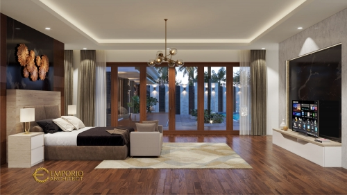 Interior Design Mrs. Adityan Villa Bali House 1 Floor Design - Kalimantan Timur