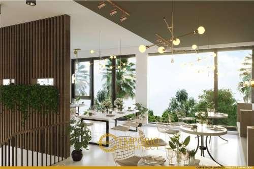 Desain Interior Desain Rumah Kost, Barber & Coffee Shop Modern 2 Lantai Bapak Deni
