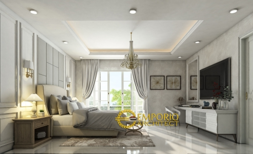 Desain Interior Desain Rumah Classic 2 Lantai Bapak Feris