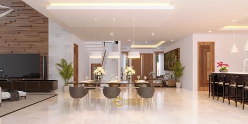 Interior Design Mrs. Putri Villa Bali House 2 Floors Design - Makassar