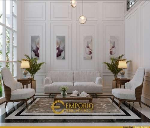 Interior Design Mrs. Endah Classic House 2 Floors Design - Palembang