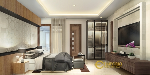 Desain Interior Desain Rumah Villa Bali 1 Lantai Ibu Shelly