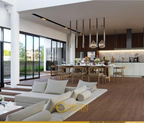 Desain Interior Desain Rumah Villa Bali 2 Lantai Bapak Guntur