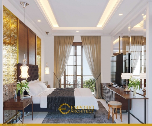 Interior Design Mrs. Mauli Classic House 2 Floors Design - Pantai Brawa, Badung, Bali
