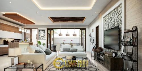 Interior Design Mr.  Indra Villa Bali House 1 Floor Design - Pekanbaru, Riau