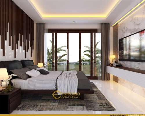 Desain Interior Desain Rumah Modern 3 Lantai Bapak Vendi