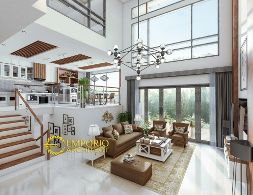 Interior Design Mrs. Ilena Modern House 2.5 Floors Design - Semarang