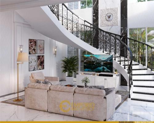 Desain Interior Desain Rumah Classic 2 Lantai Bapak Pongky