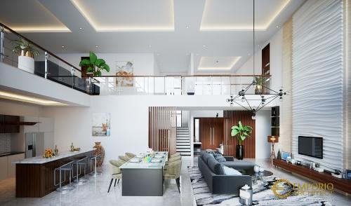 Desain Interior Desain Rumah Modern 2 Lantai Bapak Nelson