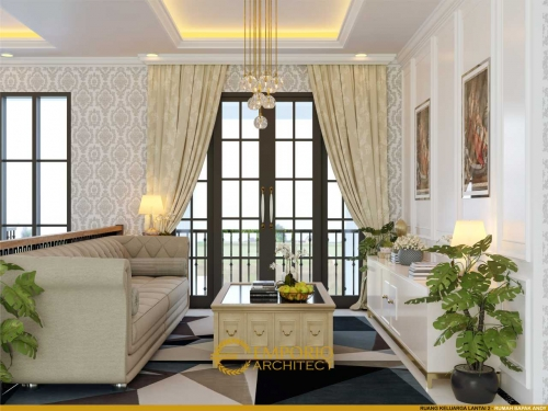 Desain Interior Desain Rumah Classic 2 Lantai Bapak Andy