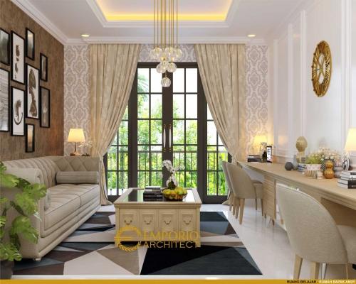 Interior Design Mr. Andy Classic House 2 Floors Design - Surabaya