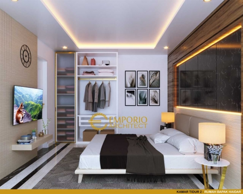 Interior Design Mr. Haidar Classic House 2 Floors Design - Surabaya