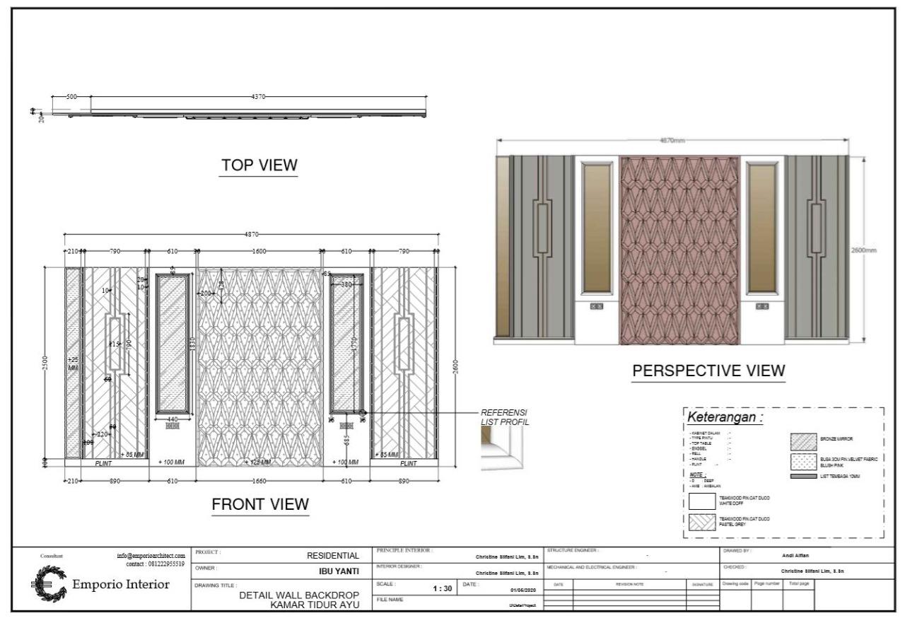 Jasa Arsitek Kelengkapan Gambar 4