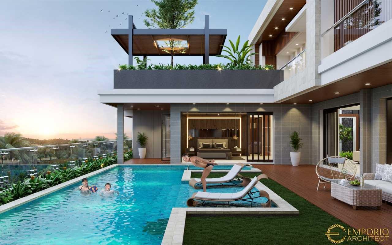 Desain Villa dan Ruko Modern 2 Lantai Bapak Yan di Pecatu, Badung, Bali